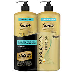 Suave Professionals Shampoo & Conditioner, Moroccan Argan Oil (40 fl. oz., 2 pk.)