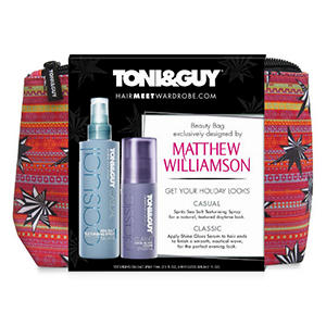 Toni & Guy Holiday Bag exclusively designed by Matthew Williamson