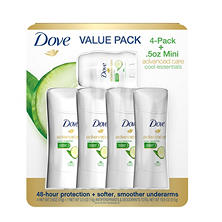 Dove Advanced Care Deodorant, Cool Essentials (2.6 oz., 4 pk. + .5 oz.,1 pk.)