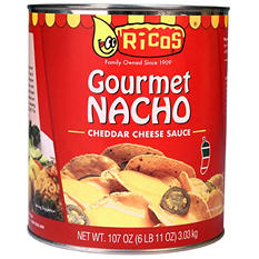 Ricos Gallon Nacho Cheese Sauce  (6.11 lbs., 6 cans)