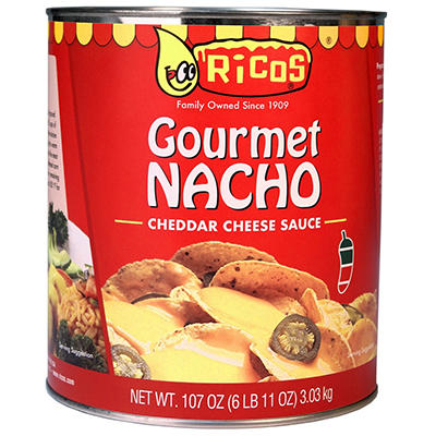 Ricos Gallon Gourmet Nacho Cheese Sauce - 6 Cans