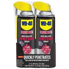 WD-40 Specialist Rust Release Penetrant Spray - 11 Oz. - 2 Pack