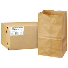 Duro Bag 20# Shorty Kraft Bags - 500 ct.