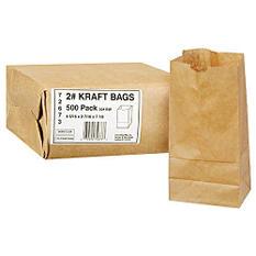 Duro Bag 2# Kraft Bags - 500 ct.
