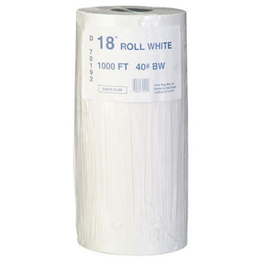 Duro Bag White Paper Roll - 18