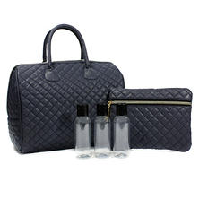 Celebrity Cosmetic 2 Pc. Duffle Set, Navy Blue