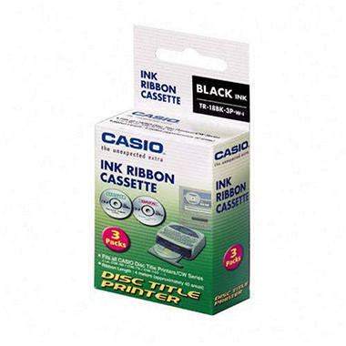 Casio Ink Ribbon for Disc Title Printer - 3 pk.