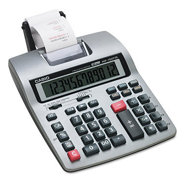 Casio HR-150TM Two-Color Printing Calculator, 12-Digit LCD, Black/Red