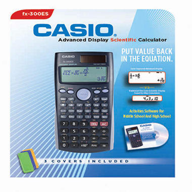 Casio® Advanced Display Scientific Calculator