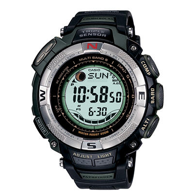 Casio Men's Atomic Solar Pathfinder Watch