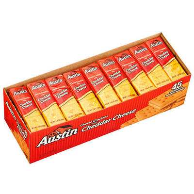 Austin® Cheese Crackers with Cheddar Cheese - 45 ct.