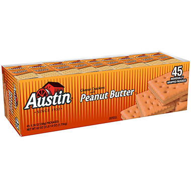 Austin Cheese Crackers with Peanut Butter (45 pk.) - Sam's Club