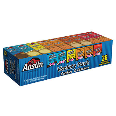 Austin Cookie & Cracker Variety Pack - 36 ct.