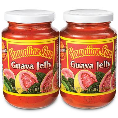 Hawaiian Sun Guava Jelly 6-2 Pack 18 oz jars