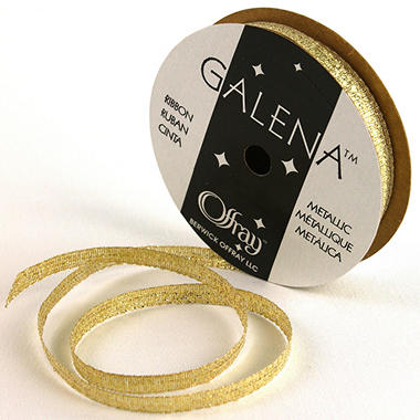 "1/4"" Galena Gold Ribbon - 24 pk."