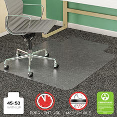 "Deflect-O - Vinyl Chair Mat - 45"" x 53"""