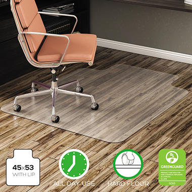 Deflect-O - EconoMat Hard Floor Chair Mat - 45'' x 53''