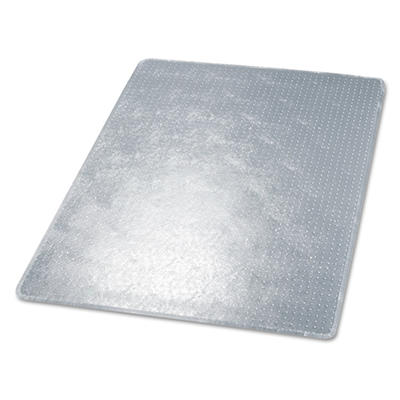 Deflect-O - RollaMat Studded Beveled Mat, Medium Pile Carpet, 46w x 60h, Clear