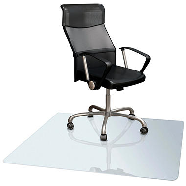 "Deflect-O 36"" x 48"" Rectangle Clear Vinyl Chair Mat for Low Pile Carpet"
