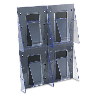 Deflect-O 4 Pocket Clear Literature Rack