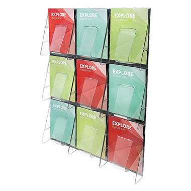 Deflect-O 9-Pocket Wall Mount Literature Rack