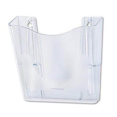 deflect-o - DocuPocket Portrait Wall File Pocket, A4/Magazines/Portfolios - Clear
