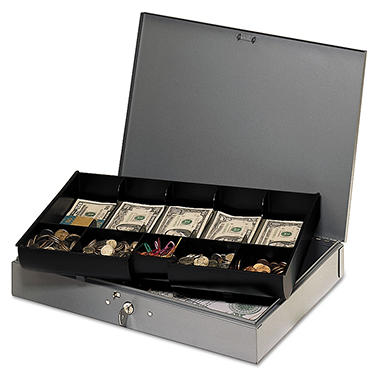 MMF Industries Extra-Wide Steel Cash Box