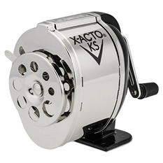 X-ACTO - Manual Pencil Sharpener, Table- or Wall-Mount - Black/Chrome