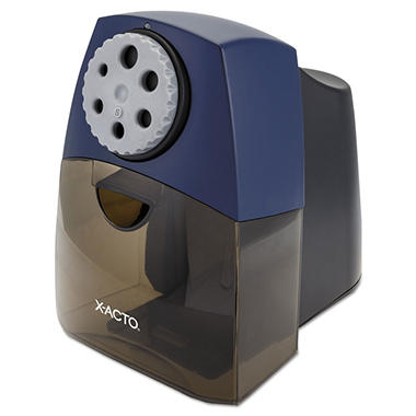 X-ActoTeacher Pro Electric Pencil Sharpener, Bue/Black