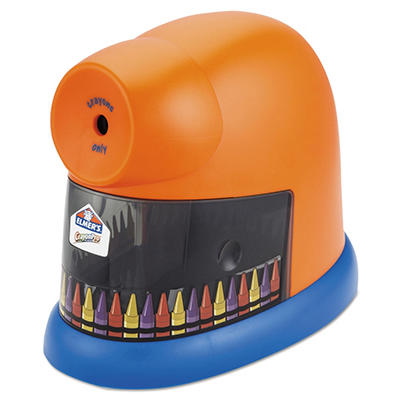 Elmer's - CrayonPro Electric Crayon Sharpener with Replaceable Blade -  Orange