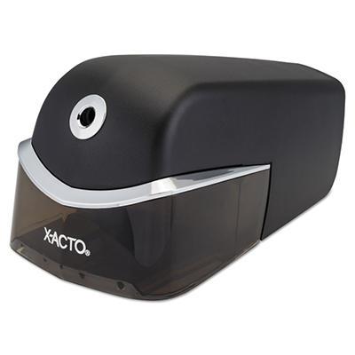 X-ACTO - Quiet Electric Pencil Sharpener - Black/Silver