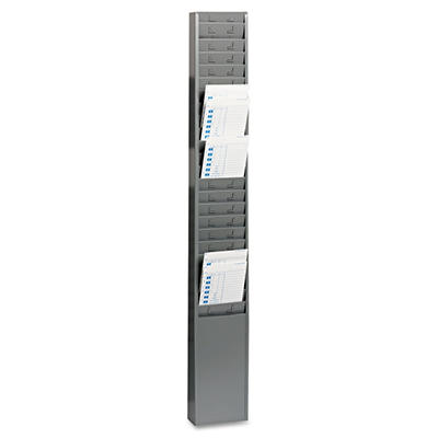 "SteelMaster - Steel Time Card Rack with Fixed 4-1/2"" x 5"" Pockets"