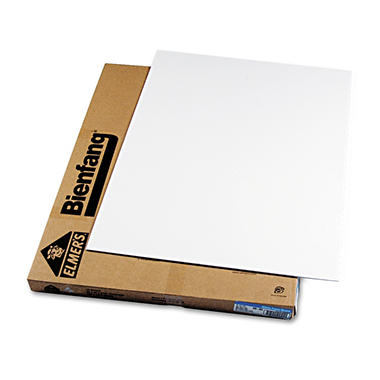 Elmers Polystyrene Foam Board, 40 x 30, White Surface and Core, 10 per Carton