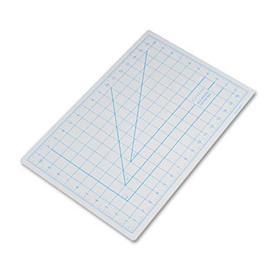 "X-ACTO Self-Healing Cutting Mat, Nonslip Bottom, 1"" Grid, 12 x 18 - Gray"