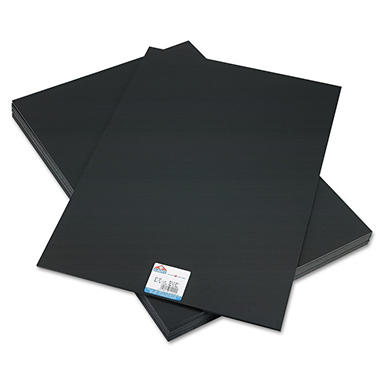 Elmer's - CFC-Free Polystyrene Foam Board, 20 x 30, Black Surface and Core -  10/Carton