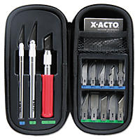 X-ACTO - Knife Set, 3 Knives, 10 Blades, Carrying Case