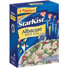 StarKist Albacore White Tuna - 4/6.4oz pouches