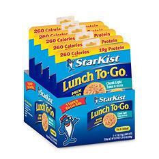 Starkist Chunk Light Tuna In Water Lunch To-Go - 5 pk.