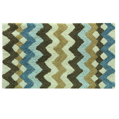 belifore cotton bath rug blue and brown sam s club