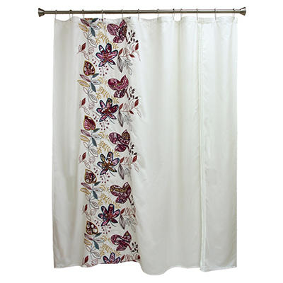 """Molly Embroidered Shower Curtain (72"""" x 70"""")"""