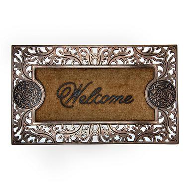 Medallion Welcome Copper Door Mat