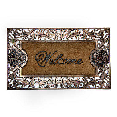 Medallion Welcome Copper Door Mat
