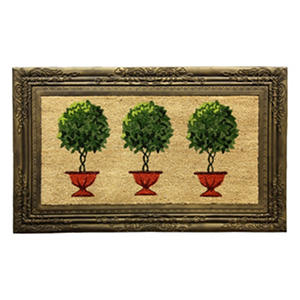 Framed Topiary Estate Welcome Mat