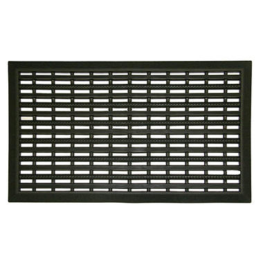 Black Scraper Door Mat