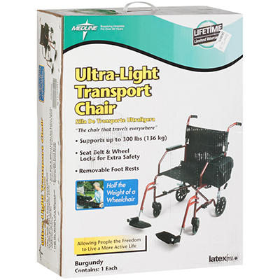 Medline Ultra-Light Transport Chair