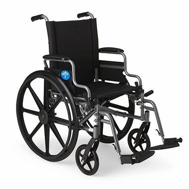 Medline k3 extra wide wheelchair with swing back removable for Extra wide swing seat