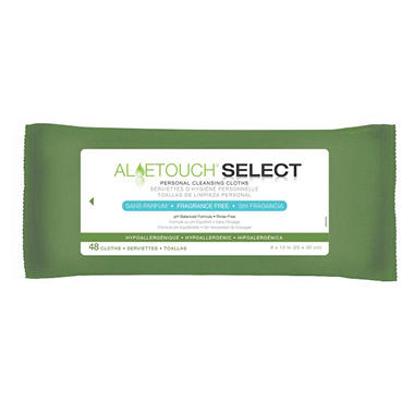 Medline Aloetouch Premium Cleansing Wipes - 12 pk.