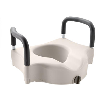 Raised Locking Toilet Seat with Arms