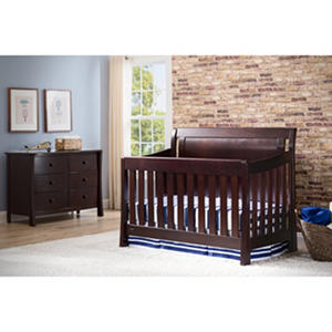 Simmons Kids Madisson Convertible Crib 'N' More, Black Espresso