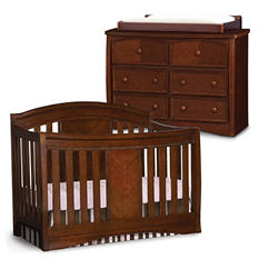 Simmons Kids Elite 3-Piece Nursery Set - Espresso Truffle